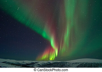 Aurora Borealis & meteors
