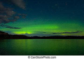 Aurora borealis (Northern lights) display - Intense Aurora...
