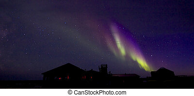 Aurora Borealis over Building 1