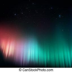 aurora, colorido
