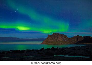Aurora over the sea