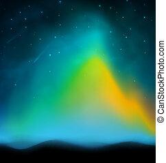 aurora, plano de fondo