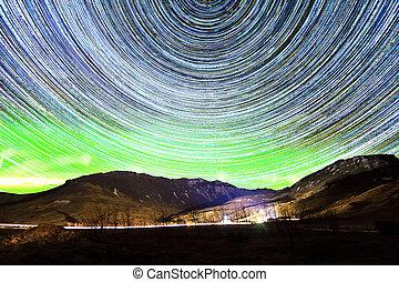 Aurora startrails Iceland