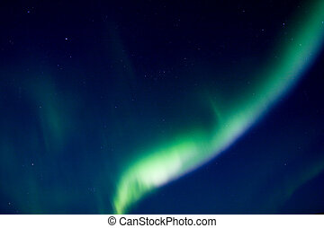 Auroral arc in the sky. No foreground.