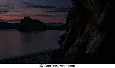 aus, gestein, See, Zeit, FEHLER, Sonnenaufgang