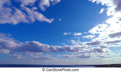 aus, himmelsgewölbe, meer, bewölkt