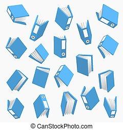 aus, papier, büroordner, hintergrund, weißes