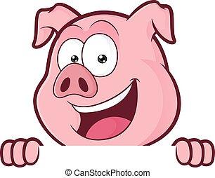 aus, schwein, schauen, brett, besitz, unbelegtes zeichen