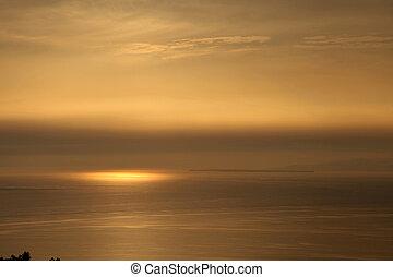 aus, sonnenaufgang, meer
