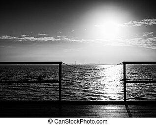 aus, sonnenaufgang, ocean.