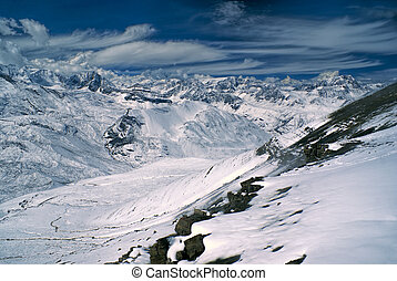 Ausangate, Andes - Breathtaking view of high altitude south ...