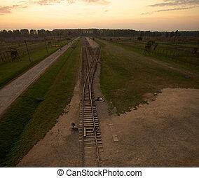 Auschwitz-Birkenau Concentration Camp - Train track arriving...