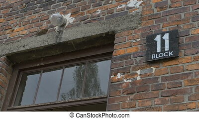 Auschwitz Building Camp Number - Block building number plank...