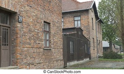 Auschwitz Extermination Camp Building - One of infamous...