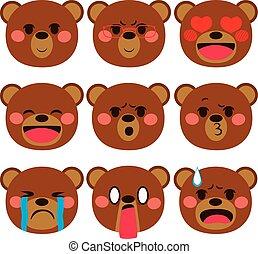 ausdrücke, bär, emoji
