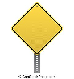 ausführlich, leer, gelbe straße, zeichen
