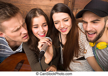 ausgabe, singende, frei, ihr, zeit, friends, karaoke,...