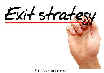 ausgang, strategie