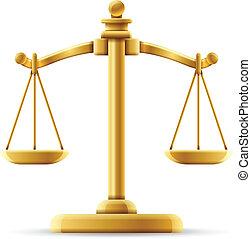 ausgeglichen, gerechtigkeit skala