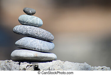 ausgleichen, kiesel, steine