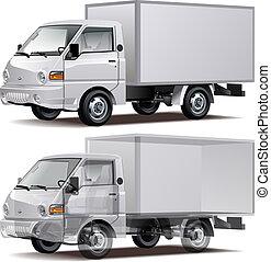 auslieferung, fracht lastwagen, /