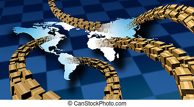 auslieferung, international, paket