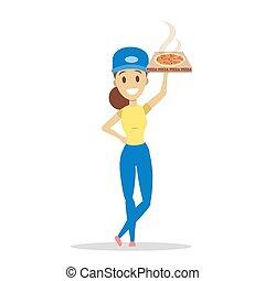 auslieferung, set., pizza