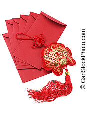Auspicious Fish Ornament And Red Packets - Chinese New Year ...