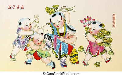 Auspicious Painting , Chinese New Year