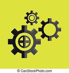 ausrüstung, abbildung, vektor, design, ikone