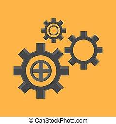 ausrüstung, ikone, design