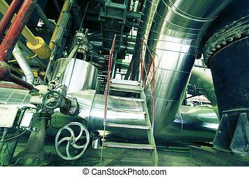 ausrüstung, kabel, und, rohrleitung, als, gefunden, innerhalb, a, modern, industrie, energieversorger