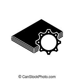 ausrüstung, lehrbuch, ikone