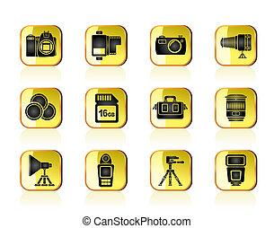 ausrüstung, photographie, heiligenbilder