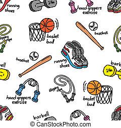 ausrüstung, sport, hintergrund