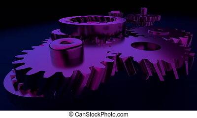 ausrüstung, system, animation., bewegung, design, von,...