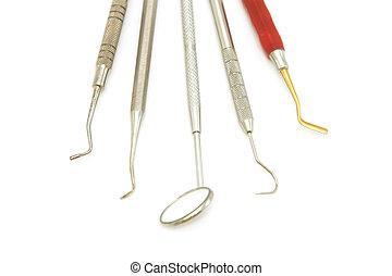 ausrüstung, zahnmedizin, werkzeuge, z�hne