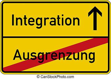 ausschluß, integration