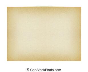 ausschnitt, altes , freigestellt, papier, hintergrund, pfad, weißes
