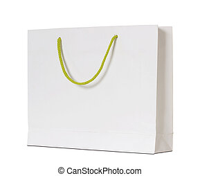 ausschnitt, freigestellt, tasche, papier, pfad, weißes