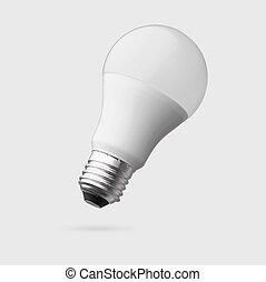 ausschnitt, leuchtdiode, freigestellt, lampe, zwiebel, pfad