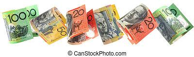 Aussie Money Border - Border of Australian money, isolated...