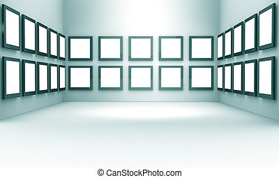 ausstellung, foto, begriff, galerie, halle