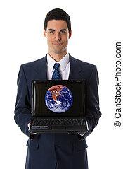 ausstellung, laptop