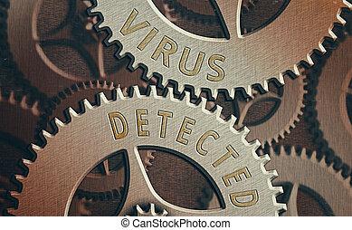 ausstellung, malware., detected., verhindern, entfernen, ...