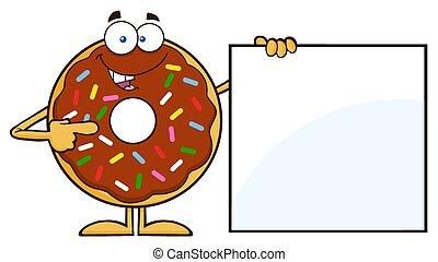 ausstellung, zeichen, leer, donut