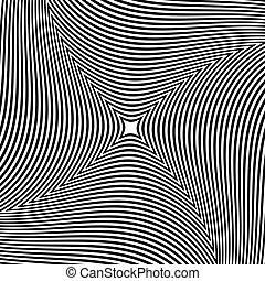 ausstrahlen, abstrakt, linien, form., muster, drehen,...