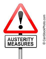 Austerity concept.
