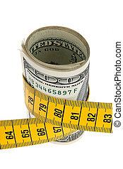 austerity, pakke, hos, dollar symbol