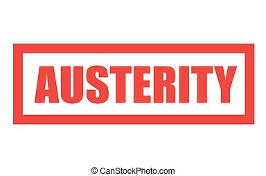 AUSTERITY sticker stamp